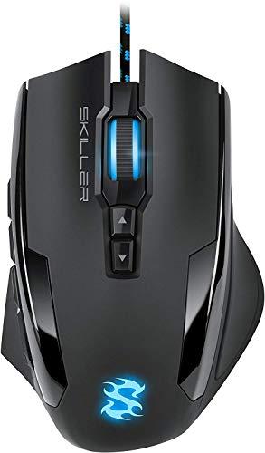 Sharkoon Skiller SGM1 Gaming Maus mit Makrotasten (10800 DPI, RGB-Beleuchtung, 12 Tasten, Weight-Tuning-System...