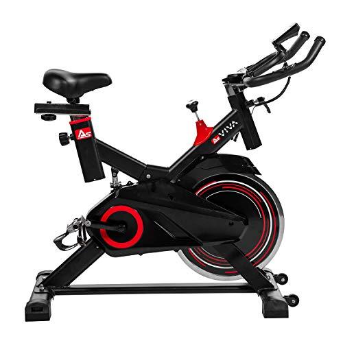 AsVIVA Indoorcycle Speedbike S11 mit 18kg Schwungmasse schwarz, inkl. Fitnesscomputer, Komfortsattel,...