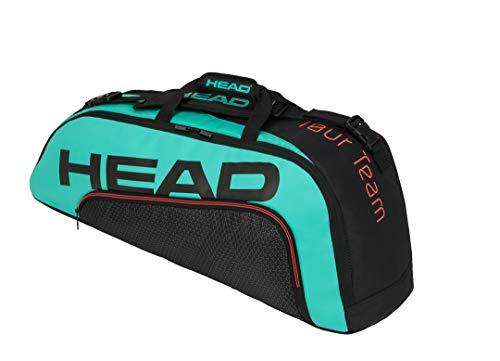 HEAD Unisex-Erwachsene Tour Team 6R Combi Tennistasche, schwarz/türkis