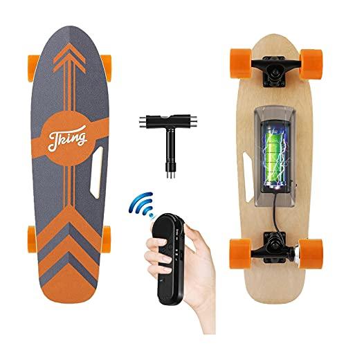 CAROMA Elektrisches Longboard Skateboard, 20 km / h, 6-8 Meilen Reichweite, 350 W Motor Elektro Skateboard,...