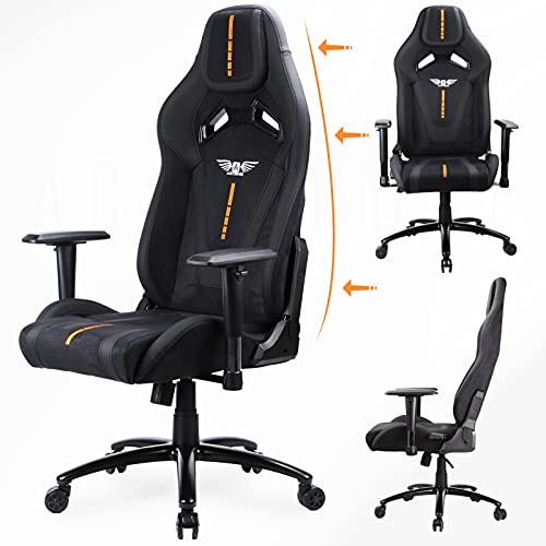 Acethrone Ergonomischer Gaming Stuhl, Bequemer Stoffstuhl Höhenverstellbare Rückenlehne von bis 135°,...