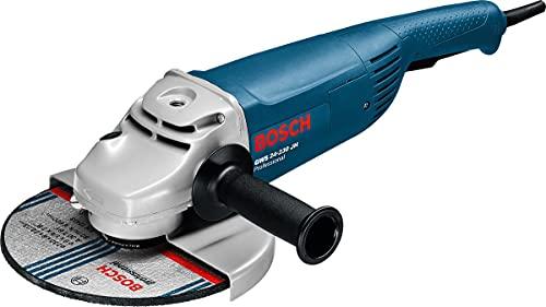 Bosch Professional Winkelschleifer GWS 24-230 JH (Scheiben-Ø 230 mm, 2.400 Watt, mit Anlaufstrombegrenzung,...