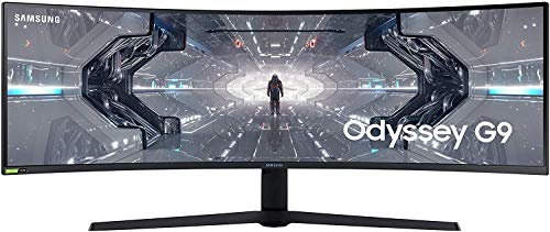 Samsung Odyssey G9 (C49G93TSSU) 124 cm (49 Zoll) 240Hz Gaming Monitor (5.120 x 1.440 Pixel, 1ms, QLED, DQHD,...