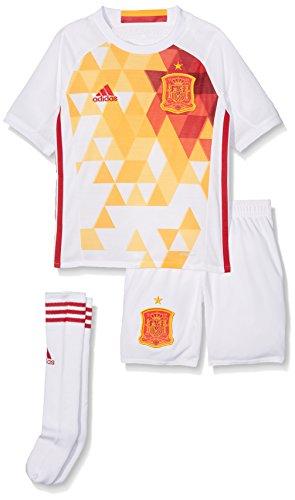 adidas Kinder Fußball/Auswärts-ausrüstung UEFA Euro 2016 Spanien Mini Trainingsanzug, Weiß/Rot/Gelb, 92