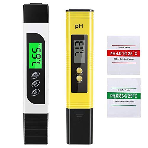 EXTSUD PH Messgerät, Digital PH Meter PH Wert Messgerät, Wasserqualität Tester mit Hoher Genauigkeit...