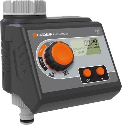 Gardena Bewässerungscomputer FlexControl: Bewässerungssteuerung nach Wochentagen oder jeden 2/3/7 Tag, bis...