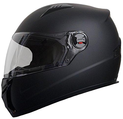 Integralhelm Helm Motorradhelm RALLOX 708 schwarz matt S M L XL Größe L