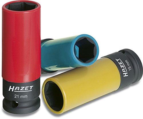 HAZET Steckschlüssel-Satz (1/2 Zoll (12,5 mm) Vierkantantrieb, mit Kunststoffhülse zum Schutz von Felgen,...