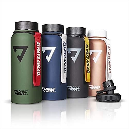 Trinkflasche Edelstahl 950ML I 2 Trinkverschlüsse I Thermosflasche Doppelwandig I BPA Frei I Kohlensäure...