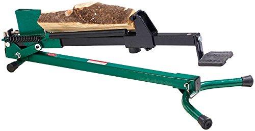 AGT Fußholzspalter: Stromloser Stahl-Holzspalter mit Fußbetrieb, 1,2 Tonnen Schlagkraft (Spalter)