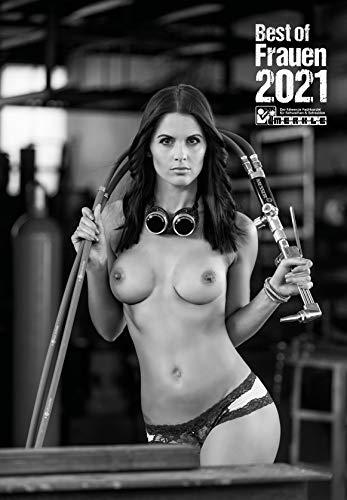 Wandkalender eleganter Frauen Erotikkalender 2021 in Schwarz-Weiß. Bürotauglich. Groß(A2) Pinup Kalender