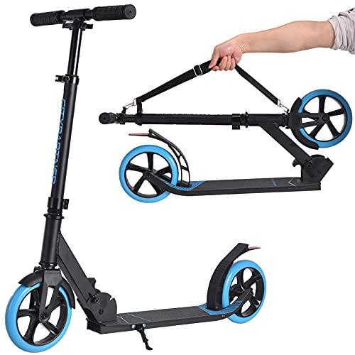 City Roller Scooter Klappbar & Höhenverstellbar Roller für Erwachsene, Big Wheel Scooter Cityroller mit...