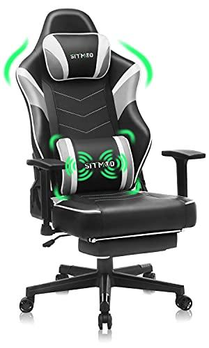 SITMOD Gaming Stuhl Ergonomischer Bürostuhl, PC Gamer Stühle mit Massage Lendenkissen Rennstil,Gaming...