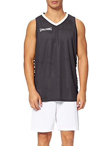 Spalding Herren Essential Reversible Shirt, schwarz/Weiß, L
