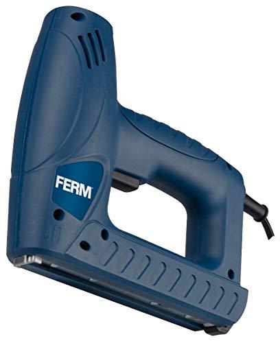 FERM Elektrotacker Kombi-Tacker - Schlagkraftreguliering - 400 Klammern - 100 Nägel