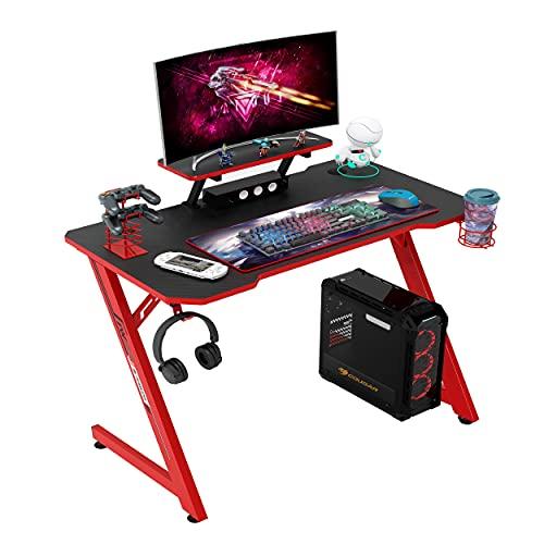 IntimaTe WM Heart Gaming Tisch 110cm, Ergonomischer Computertisch, Schreibtisch mit Tischplatte aus...