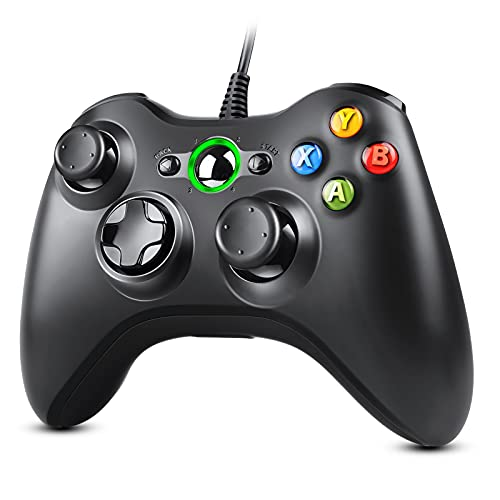 Zexrow Controller für Xbox 360, Gamepad Joystick mit Kabel, USB Controller für Microsoft Xbox 360 PC Windows...