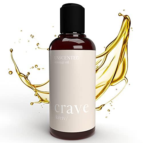CRAVE - Hochwertiges Massageöl flüssig als zärtliches Massage Gel für ideale Muskelentspannung,...