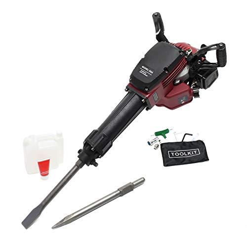 Abbruchhammer 2.5 PS 55J Schlagstärke 1500 1/min Schlagzahl, Sechskantaufnahme, mit 2 Meißeln