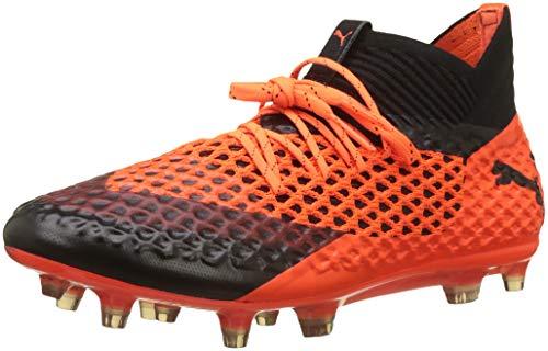 Puma Herren Future 2.1 Netfit FG/AG Fußballschuhe, Schwarz Black-Shocking Orange 02, 45 EU