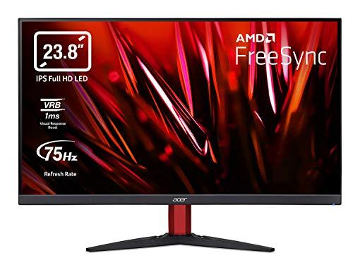 Acer Nitro KG242Y Gaming Monitor 23,8 Zoll (60 cm Bildschirm) Full HD, 75Hz, 1ms (VRB), 2xHDMI 1.4, VGA, HDMI...