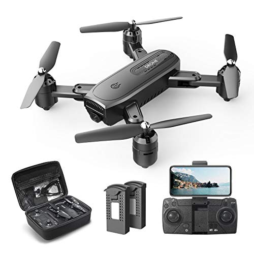 DEERC D30 Faltbar Drohne mit 1080P HD Kamera für Kinder,RC Quadrocopter ferngesteuert mit 2 Akkus,FPV Live...