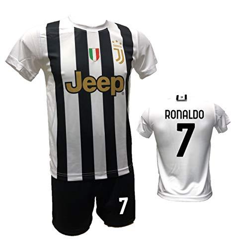 DND Di D'Andolfo Ciro Fußballtrikot Home Cristiano Ronaldo CR7, Shorts mit Aufdruck Nummer 7 und Stutzen,...