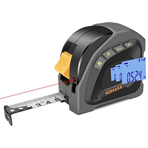 Laser Massband Entfernungsmesser 2 In 1,40+5M Wiederaufladbar Lasermessgeräte,M/Ft/In, Ein-Klick-Änderung...