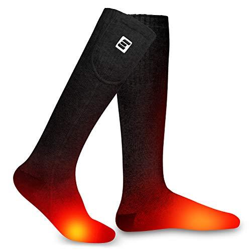 EEIEER Beheizte Socken für Männer und Frauen, Beheizbare Socken Wiederaufladbare Batterie Heizsocken Warme...