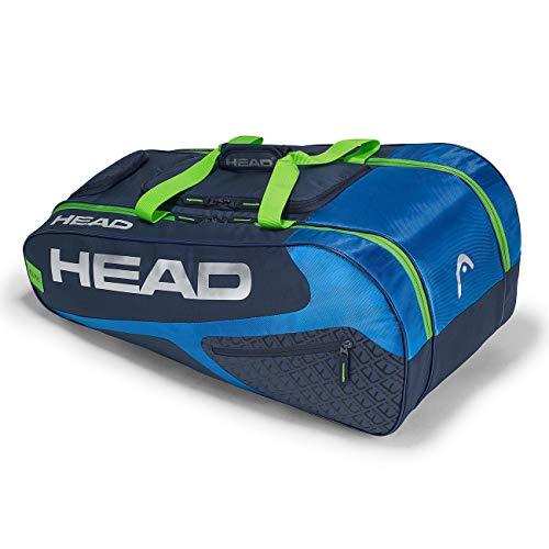 HEAD Unisex– Erwachsene Elite Allcourt Tennistasche, Blue/Green, Einheitsgröße