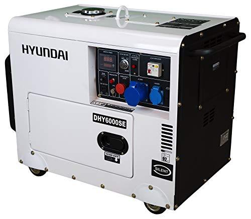 HYUNDAI Silent Diesel Generator DHY6000SE D, Notstromaggregat mit 5.3 kW (230 V) Leistung, Stromerzeuger fr...
