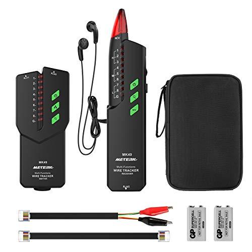 Kabeltester, Meterk Kabelfinder RJ11/ RJ45 Leitungssucher Line Finder Netzwerkprüfgeräte für Kabel,...