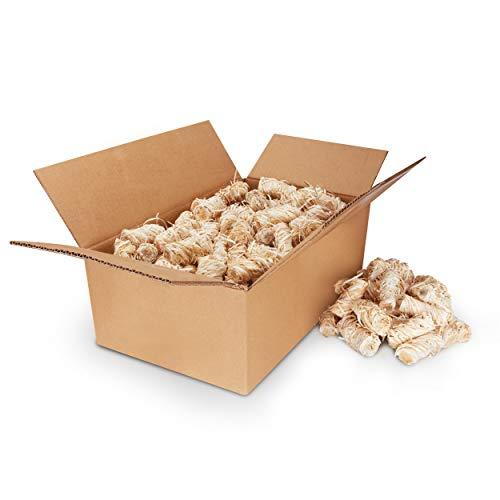Kaminanzünder aus Bio Holzwolle mit natürlichem Wachs [3 KG] - Premium Öko Anzündwolle als Ofenanzünder,...