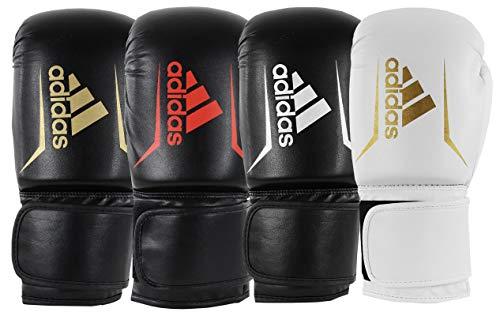 adidas Erwachsene Speed 50 Boxhandschuhe, schwarz/weiß, 10 oz