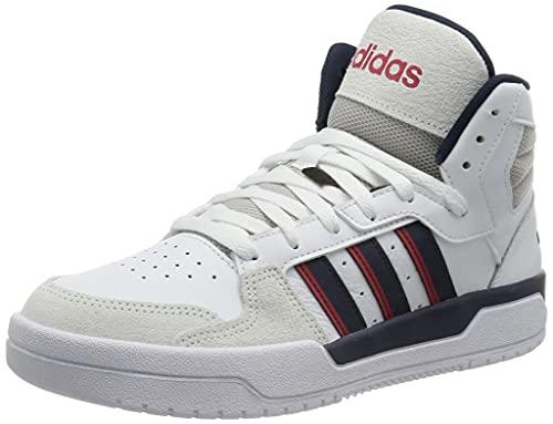 adidas Herren ENTRAP MID Basketballschuhe, FTWBLA/Maruni/ROJINT, 42 2/3 EU