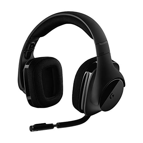 Logitech G533 kabelloses Gaming-Headset, 7.1 Surround Sound, DTS Headphone:X, 40mm Treiber, 2.4 GHz Wireless,...