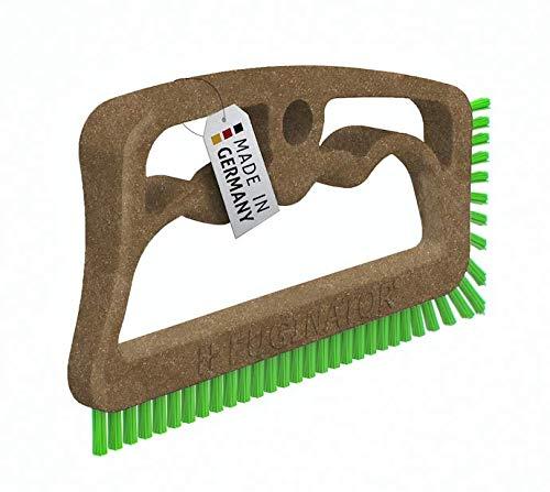 Fuginator® Fugenbürste BIO braun/grün – aus nachwachsenden Rohstoffen - Bürste zur Fugenreinigung in...