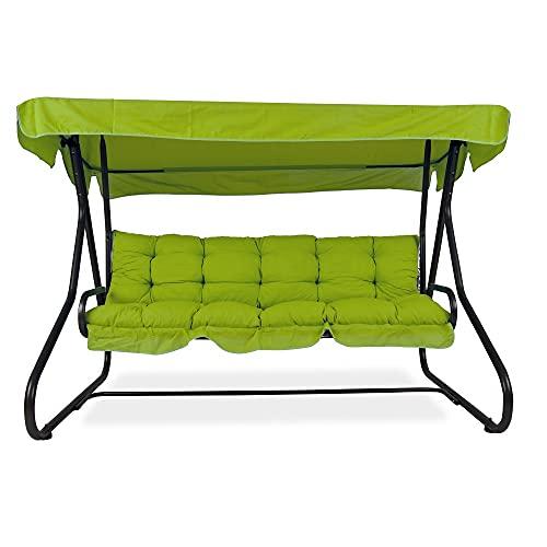 PATIO 3-Sitzer Hollywoodschaukel Milano 170 cm Gartenschaukel Sonnendach Sitzpolster Klappbar Liegefunktion