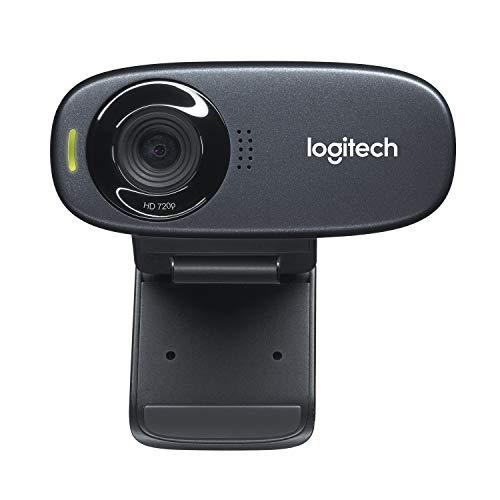 Logitech C310 Webcam, HD 720p, 60° Sichtfeld, Fester Fokus, Belichtungskorrektur, USB-Anschluss,...