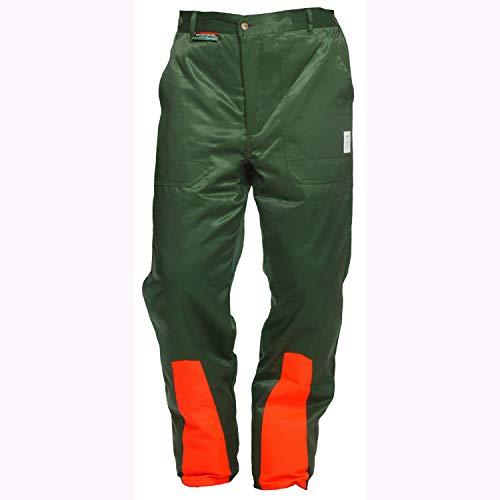 Schnittschutzhose Klasse 1, Forsthose WOODSafe®, kwf-geprüft, Bundhose grün/orange, Herren -...