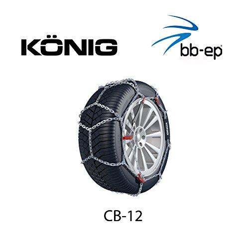 Schneekette König CB-12 PKW für die Reifengröße 225/45 R17 Preis-Leistungs-Sieger (1 Satz - 2 Stück...
