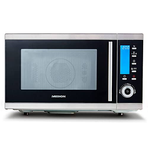 MEDION MD 15501 4 in 1 Mikrowelle mit Grill (25 Liter, 900 Watt, 1100 Watt Grill, 2500 Watt Heißluft, 10...