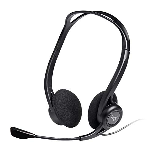 Logitech 960 Kopfhörer mit Mikrofon, Stereo-Headset, Verstellbares Mikrofon mit Rauschunterdrückung,...