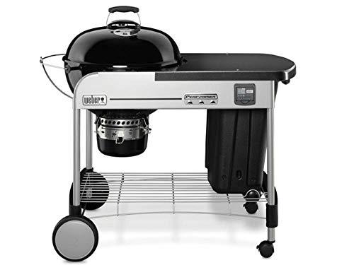 Weber 15401004 Grill, Performer Premium GBS 57cm - Holzkohle, 126x72x102 cm, schwarz