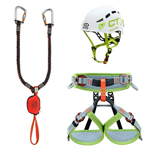 Climbing Technology Junior Eclipse-Classic-k Slider-Ascent, Kit Ferrata Unisex Kinder, Farben Sortiert, XXS