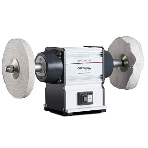 Optimum Poliermaschine OPTIpolish GU 20P (für Metall, wartungsfreier Motor 0,6 kW, 2X Polierscheiben),...