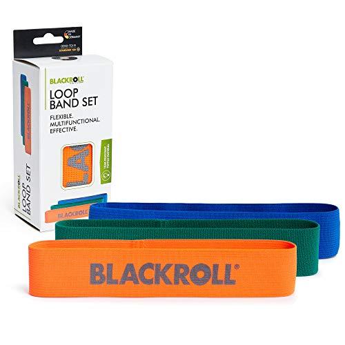 BLACKROLL® Loop Band Set - Fitnessband-Set. Trainingsbänder/Gymnastikbänder/Sportbänder in 3...