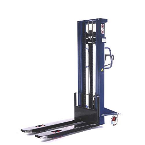 Hochhubwagen Handstapler Hydraulik-Stapler | Tragkraft 1,0t / 1000 kg - Hubhöhe 3,0m / 3000 mm - Gabellänge...