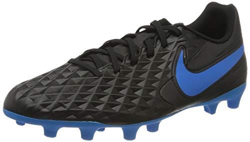 Nike Unisex-Erwachsene Legend 8 Club Firm Multi-Ground Fußballschuhe, Mehrfarbig (Black/Blue Hero 4), 43 EU