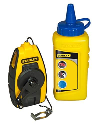 Stanley FatMax Schlagschnur Kompakt-Kit (115 g blaue Kreide, 9 m Schnurlänge, robustes Kunststoffgehäuse)...